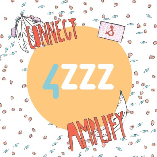 "4zzz logo that syas ""connect and amplify"""
