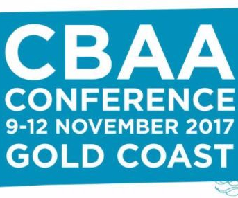 image that says CBAA conference 9-12 November 2017 Gold Coast