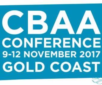 image that says CBAA conference 9-12 November 2017 Gold Coast