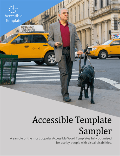 Picture of Sampler cover: Man with guide dog crossing road