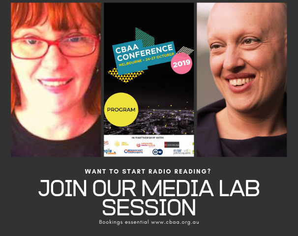 All about radio reading at the Media Lab – CBAA conference 2019